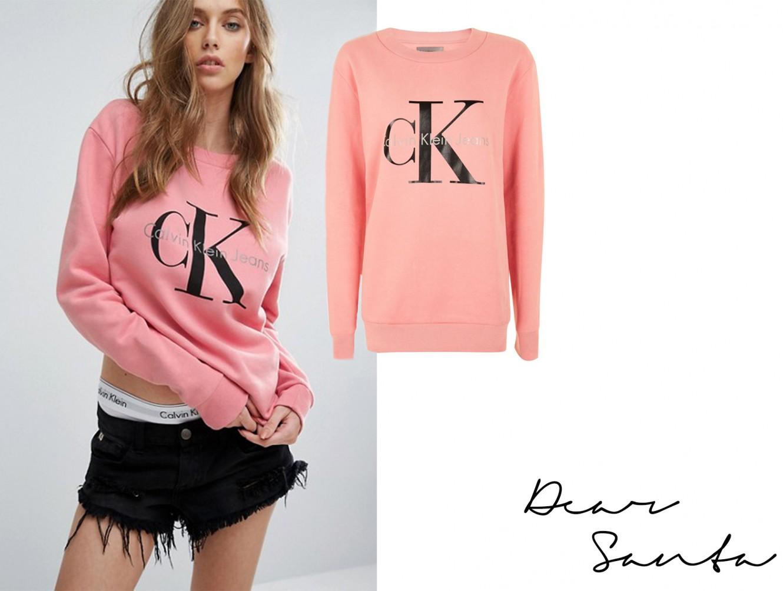 calvin klein pink sweatshirt